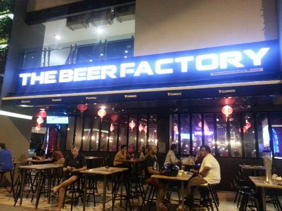 The beer factory on a