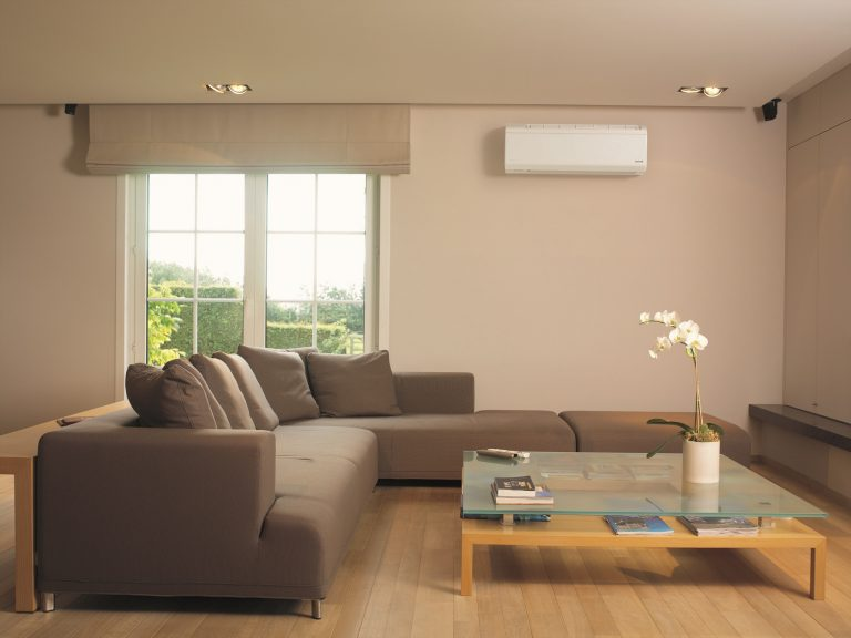 Contemporary living room air conditioner placement 768x576