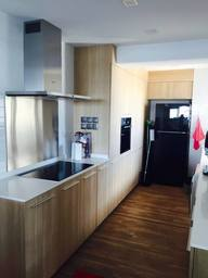 Thumb kitchen cabinet   solid surface top