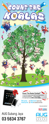 Thumb count the koala bunting 200x80 cm