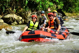 Thumb white water rafting
