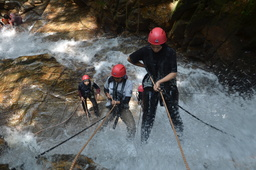 Thumb waterfall abseiling adventure