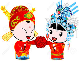 Thumb 2985661 the royal wedding stock vector chinese wedding couple