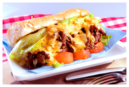 Thumb cheesesteak sandwich