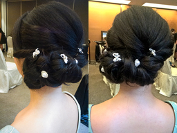 Thumb jennifer bridal dinner roll n pin hairdo