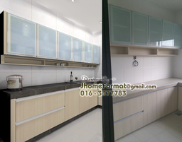 Thumb kitchen concrete wall glass