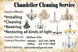 Thumb chandelier cleaning