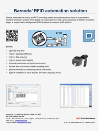 Thumb barcode rfid automation