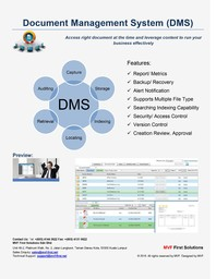 Thumb document management system
