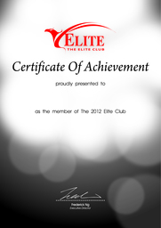 Thumb certificate elite club