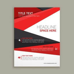 Thumb business brochure flyer design with red shapes 1017 2342