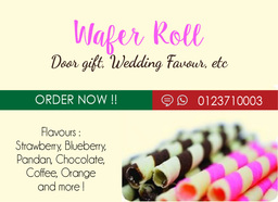 Thumb wafer roll adv wedding gift