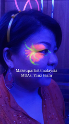 Thumb mars glow in the dark face paint  7