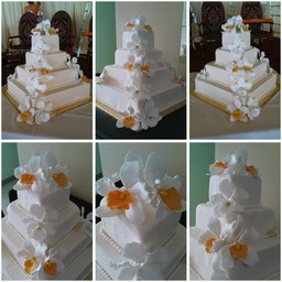 Thumb orchids wedding cake