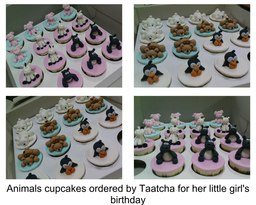 Thumb animal theme cupcakes