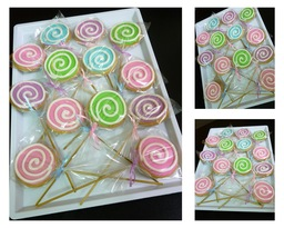 Thumb lollipop cookies