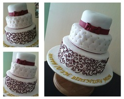 Thumb longevity birthday cake