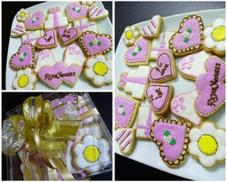 Thumb wedding cookie gift set