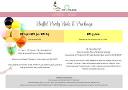 Thumb buffet party rate   package