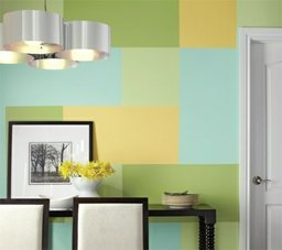 Thumb wall painting ideas rectangles blue green yellow
