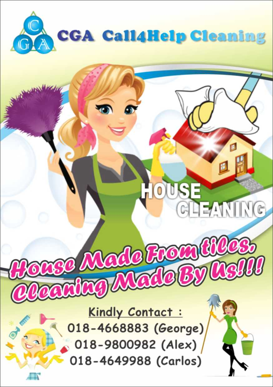 hire cga call for help enterprise in gelugor kaodim thumb cga call4help cleaning flyers